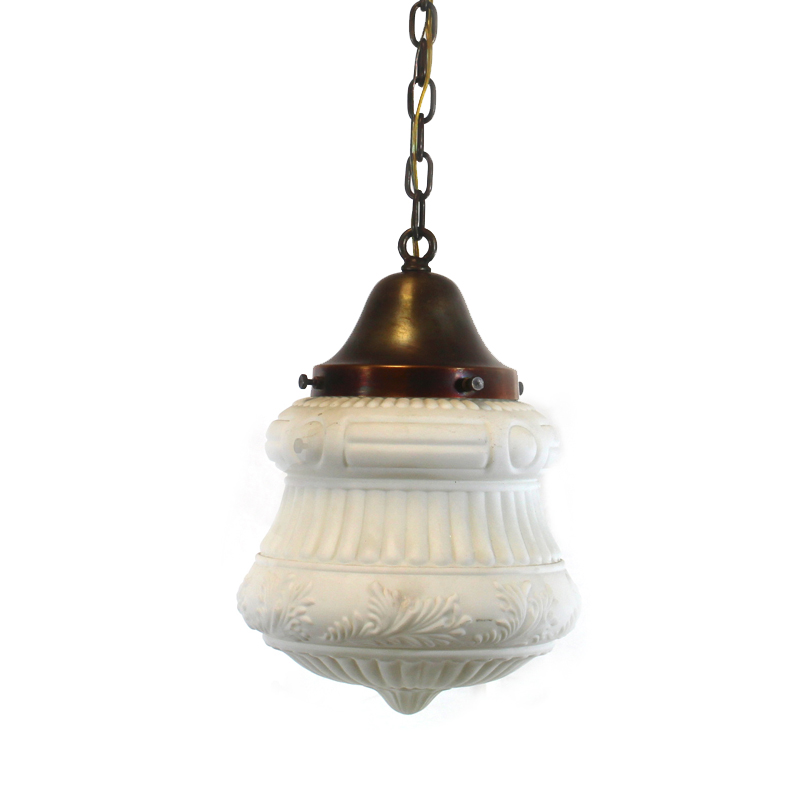 Vintage White Pendant Light